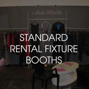 Standard Rental Fixture Booths